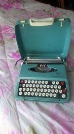 great turquoise vintage typewriter