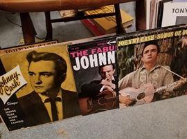 Vintage Johnny Cash albums