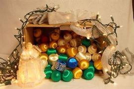 Lot of Vintage Christmas Decor! Silk Wrapped Chris ...