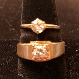 14K Estate Diamond Jewelry .