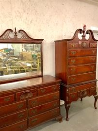 American made Mahogany Dresser with mirror
