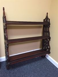 Mahogany Wall Shelf.  Beautiful Detail.