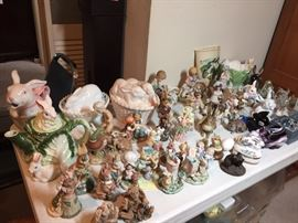 Lots of beautiful rabbit collectibles and pottery.  priced to move!