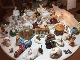 And more rabbit collectibles....but there are many more not shown here.