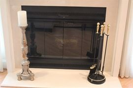 Candlestick and Fireplace  Utensils