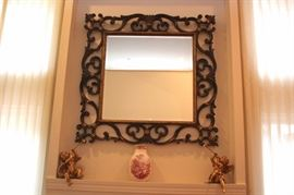 Decorative Items and Framed Decorative Mirror