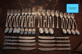 Sterling Flatware Service for 8