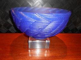 "Anne Robinson 1994 'Blue Generation Bowl' 16"" diameter, Excellent Condition"
