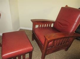 Morris Style Chair and Ottoman