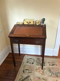 English Tilt Top School Master's Desk