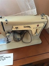 Singer Sewing Machine & Cabinet