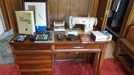 Singer Sewing Machine & Sewing Cabinet
