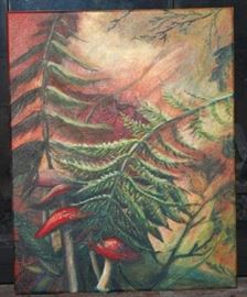 Forest Shrooms - Santapaul Original  Acrylic on Canvas