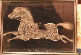 Old Folk Art Horse - Printers Proof