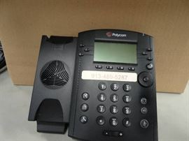 2 Boxes of Polycom Phones & Misc.