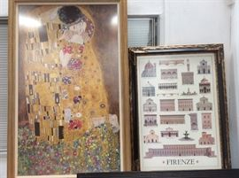 Klimt framed print, Firenze print