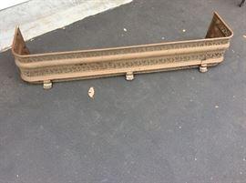 Brass fireplace bumper-antique