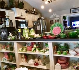 Decorative Tableware, Bunny Lane Canisters, Fitz & Floyd Serving Platter, Lots of Bordallo Dinnerware, Bunnies