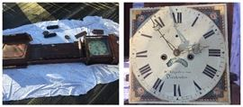 W. Stephenson of Dorchester long case grandfather clock parts, as is.