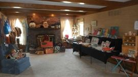 Family Room:  This is an overview of the RETRO room which displays vintage hats, furs, luggage, games, dolls and more!  Closer photos are coming up.....