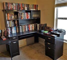 Office desk and plenty of books