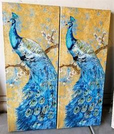 2 peacocks 39x16 each