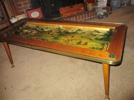 Black Forest carved wood coffee table.  Circa 1969.  Purchased in Germany.