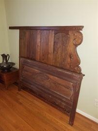 carved antique bed