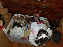 newer, modern dolls