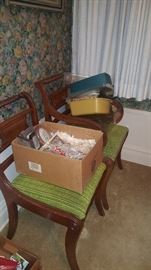 Chairs, linens