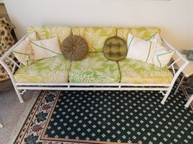 Meadowcraft metal bamboo couch