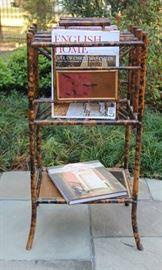 Antique Bamboo Chinoiserie Magazine Rack