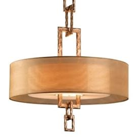 Drum Chandelier with Organza Shade from Troy Lighting
