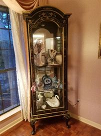 Drexel chinoiserie lighted curio