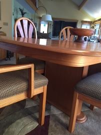 Giguere and Morin contemporary dining set.  Made in Canada
