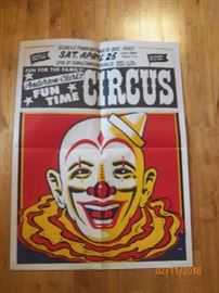Vintage circus poster and we have many more.