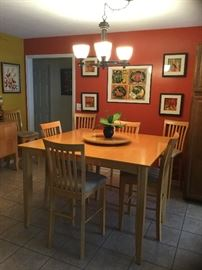Counter-height table and 8 chairs