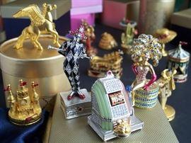 Dozens of Estee Lauder collectibles