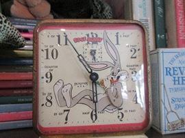Vintage Bugs Bunny clock