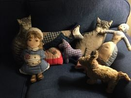 Stuffed patchwork animals and dolls