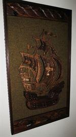 Large Vintage Wooden Ship