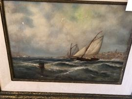 Wonderful Nautical oil paintings -