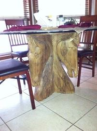 Horse head dining room table & chairs