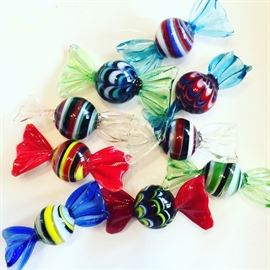Handblown glass candies