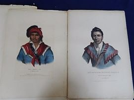 19th Hand Colored N. America Indians