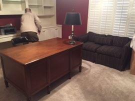Mahogany desk & hideway sofa