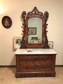 Victorian Dresser with marble top.  Great Condition!'