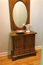 Ethan Allen Foyer Table and Mirror, Roseville, USA