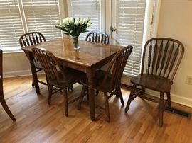 Table and Chairs - Steam Bent Furniture.   Richardson Bros Furniture