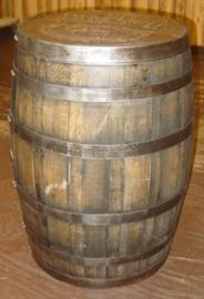 Large Wooden Whiskey Barrel